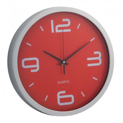 Nástěnné hodiny, červená