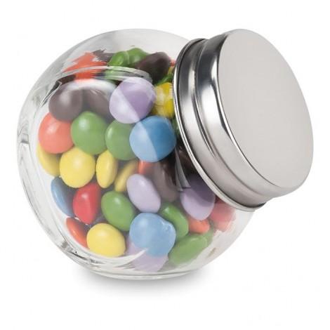 30 gramů čokoládek v skleněné dóze