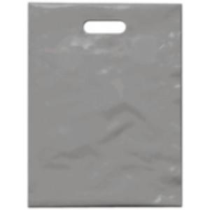 PE taška 15x20 cm, stříbrná