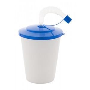 Uzavíratelný plastový pohárek, královská modrá