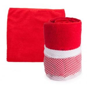 Sportovní ručník, červená