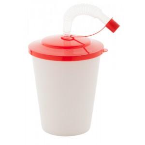 Uzavíratelný plastový pohárek, červená