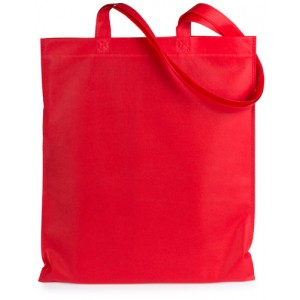 Nákupní taška z netkané textilie, červená
