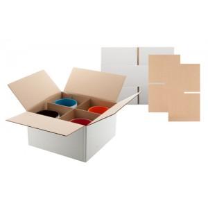 Krabice na 4 hrnky, bílá