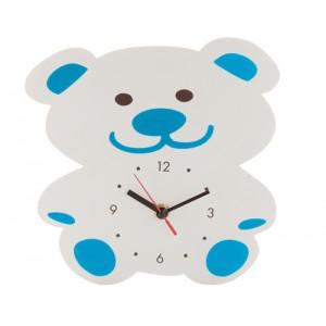 Nástěnné hodiny, medvěd, modrá