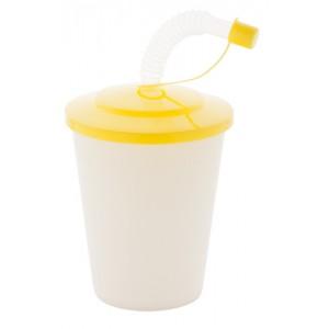 Uzavíratelný plastový pohárek, žlutá