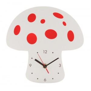 Nástěnné hodiny, houba, růžová