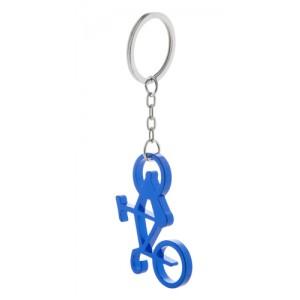 Kovová klíčenka s otvírákem, modrá