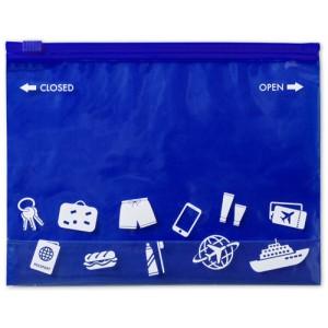 Víceúčelová taška na zip, modrá