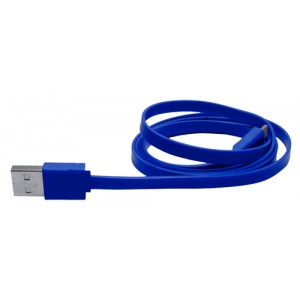 Mikro USB nabíjecí kabel, modrá