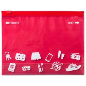 Víceúčelová taška na zip, červená