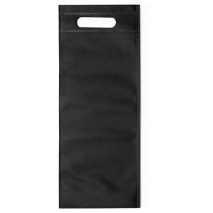 Taška na víno z netkané textílie, černá