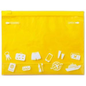 Víceúčelová taška na zip, žlutá