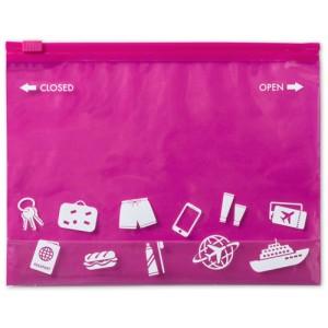 Víceúčelová taška na zip, růžová