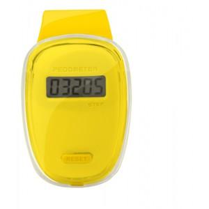 Digitální krokoměr, žlutá