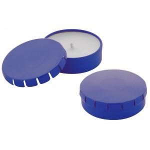 Svíčka v kovové krabičce, modrá
