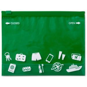 Víceúčelová taška na zip, zelená