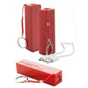 Power banka 1 200 mAh, červená