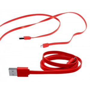 Mikro USB nabíjecí kabel, červená