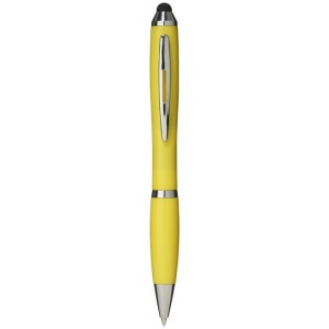 Barevné kuličkové pero a stylus Nash s barevným úchopem
