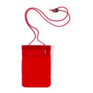 Voděodolný obal na mobil, červená