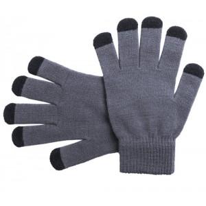 Dotykové rukavice, šedá