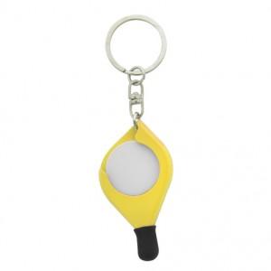 Klíčenka se žetonem, žlutá
