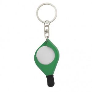 Klíčenka se žetonem, zelená