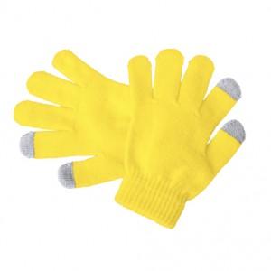 Dotykové rukavice pro děti, žlutá