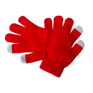 Dotykové rukavice pro děti, červená