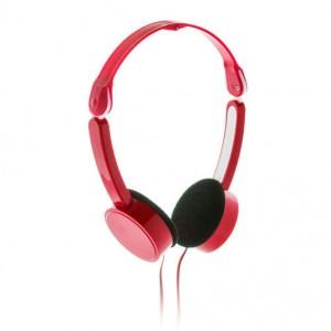 Skládací sluchátka, červená