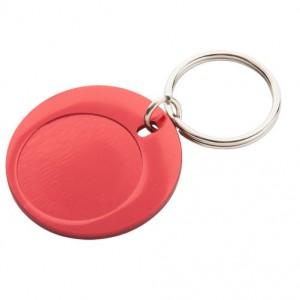 Kovová klíčenka, červená