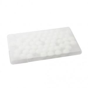 Krabička s mentolovými bonbóny, transparentní