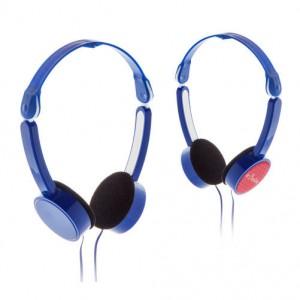 Skládací sluchátka, královská modrá