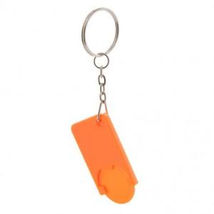 Klíčenka na mince, oranžová