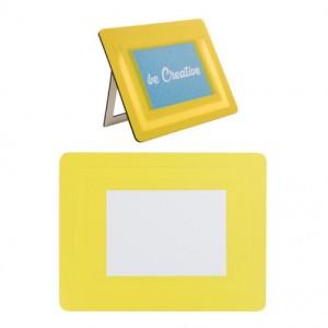 Podložka pod myš s fotorámečkem, žlutá