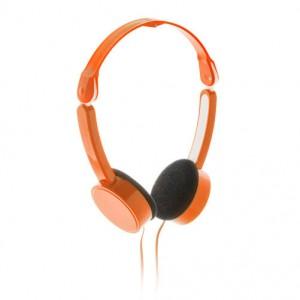 Skládací sluchátka, oranžová
