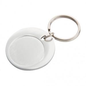 Kovová klíčenka, stříbrná