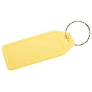 Plastová klíčenka, žlutá
