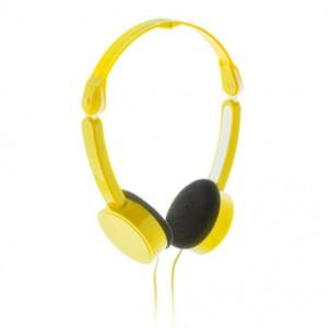 Skládací sluchátka, žlutá