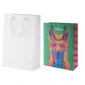 Velká papírová nákupní taška na zakázku 32x12x42 cm