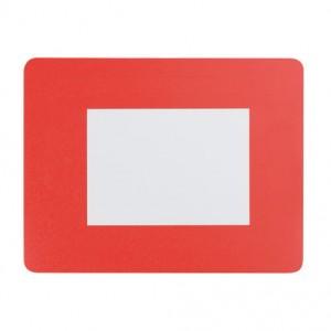 Podložka pod myš s fotorámečkem, červená