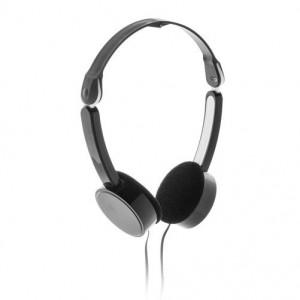 Skládací sluchátka, černá