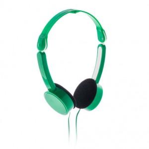 Skládací sluchátka, zelená