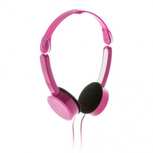 Skládací sluchátka, růžová