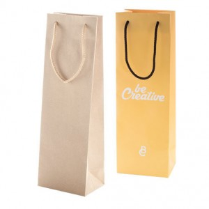 Papírová taška na víno na zakázku 13x9x39 cm