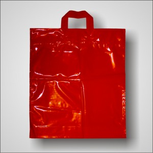 PE taška 40x46 cm, červená