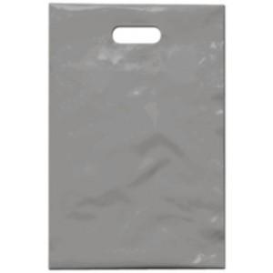 PE taška 20x30 cm, stříbrná