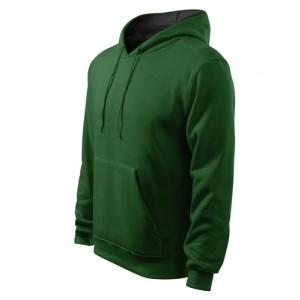 Hooded Sweater mikina pánská lahvově zelená 2XL