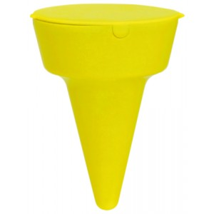Popelník na pláž, žlutá